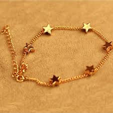 gold simple bracelet images New lady girls bangle simple gold filled chic heart trendy stars jpg