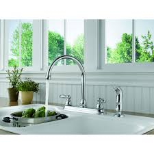 Kitchen Faucet With Built In Sprayer by Peerless Two Handle Kitchen Faucet With Side Sprayer Chrome
