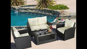 Patio Wicker by Outdoor Patio Wicker Furniture Sofa Table Chair Sets Youtube