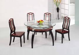 Round Glass Table Tops by Glass Top Dining Tables Homesfeed