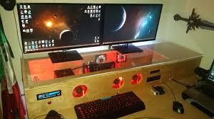 awesome computer desk proyecto escritorio custom own build