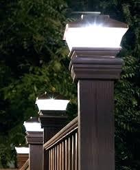4x4 post cap lights solar post cap light solar light for fence post idea solar powered