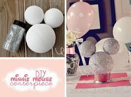 diy minnie mouse centerpiece glitter minnie mouse centerpiece