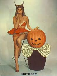 Vintage Pin Up Halloween Costumes by Julie London Pin Up With Jack O Lantern Vintage Halloween