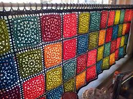 Kitchen Curtain Patterns Inspiration Pretty Crochet Curtain Inspiration From Squares Would Look