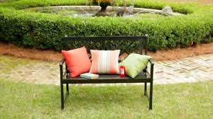 Sunbrella Covers Patio Furniture - decorating sunbrella cushions on black metal chair for home