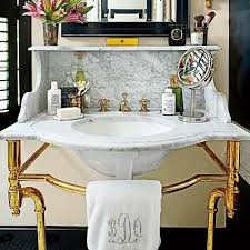 carrara marble console sink palmer industries pedestal sink vanity brass ball foot with curve