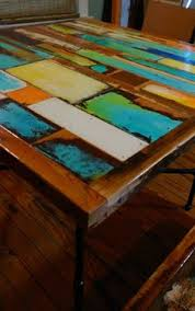 Reclaimed Wood Bistro Table Custom Pub Table Cafe Table Bistro Table Colorful Patina