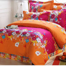 bright orange bedding set 11981