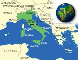 italy map map of italy terrain area and outline maps of italy countryreports