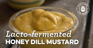 dill mustard lacto fermented honey dill mustard recipe cultures for health