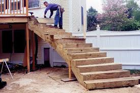 curved deck stairs professional deck builder staircases