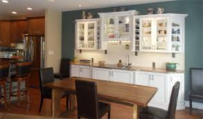 wine hutch and display cabinet in dining room morris black