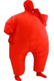 Fat Suit Halloween Costume Chub Suit Inflatable Blow Color Body Costume