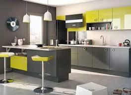 tabouret de bar pour cuisine cuisine grise avec tabourets bar et meuble vert anis lapeyre