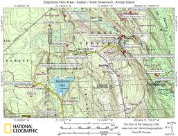 Map Of Ri Trail Maps Story Of The Yawgoog Trails