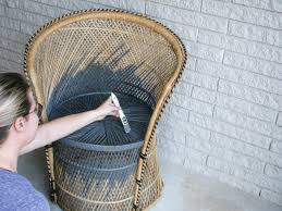 how to refresh a rattan peacock chair hgtv