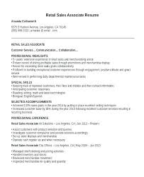 sales associate resume exles sales associate responsibilities resume cover letr for retail