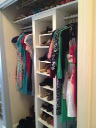 decorating wooden home depot closet organizer with hanging shelves