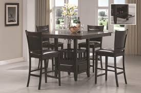 Black Wood Dining Room Table by Black Counter Height Dining Set 5piece Counter Height Dining Room