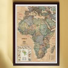 Framed World Map by Africa Political Map Earth Toned Framed National Geographic Store