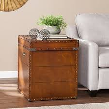 Chest End Table Amazon Com Steamer Trunk End Table Kitchen U0026 Dining