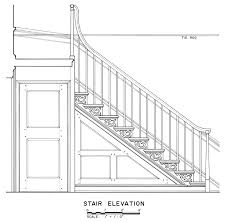 drawn stairs detail drawing pencil and in color drawn stairs
