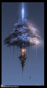 cool floating tree could be a set for my and