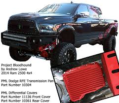 2014 Dodge Ram 3500 Truck Accessories - pml rear differential cover for ram 2500 3500 with the aam 11 1 2