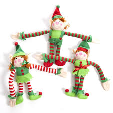 Cheap Christmas Decorations On Sale by Amazon Com Fun Express Deluxe Plush Hanging Christmas Elves Party