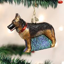 amazon com old world christmas german shepherd glass blown