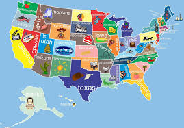 Visited States Map Kids United States Map Giving The States A Little Personality