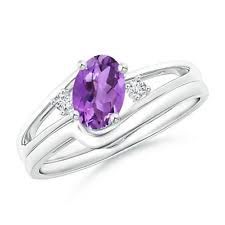 engagement and wedding ring sets amethyst engagement wedding ring sets ebay