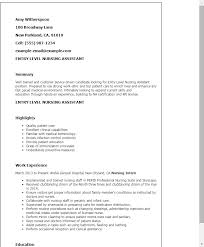 Sample Of Nursing Assistant Resume by Professional Entry Level Receptionist Templates To Showcase Your