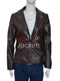 mens leather riding jacket captain america scarlett johansson brown jacket instylejackets