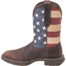 durango men u0027s 11in american flag western pull on work boots