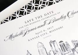 wedding invitations kansas city kansas city skyline save the date cards
