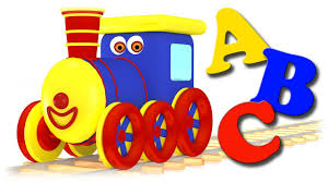 trains for children video learning alphabet letters and words