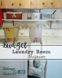 Cheap Laundry Room Cabinets by Budget Laundry Room Makeover Salvage Sister And Mister