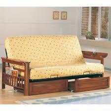 coaster futons casual futon frame with flip up arms magazine