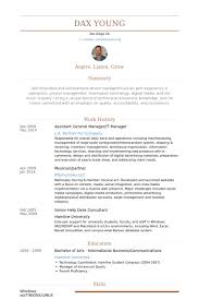 Sports Management Resume Samples by Assistant General Manager Resume Samples Visualcv Resume Samples