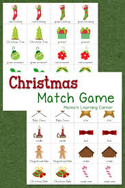 christmas match game gaming free printable and preschool christmas