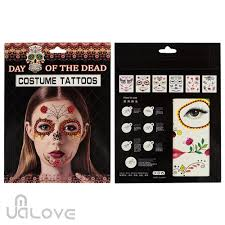 uk day of the dead temporary halloween eye and face tattoos 6