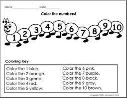 color the numbers prek primary worksheet abcteach