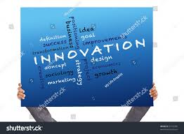 hand holding poster innovation concept other stock illustration