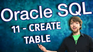Create Table Oracle Sql Oracle Sql Tutorial 11 Create Table Youtube