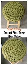 Crochet Armchair Covers Crochet Stool Cover Free Patterns