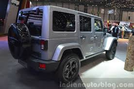 jeep rubicon black jeep wrangler black edition ii rear three quarter view at the 2015