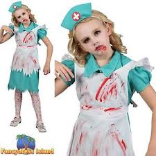 Bloody Nurse Halloween Costume Zombie Nurse Bloody Halloween Surgeon Age 3 13 Girls Childs Fancy