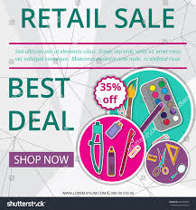 retail sale banner label design discount stock vector 629408996